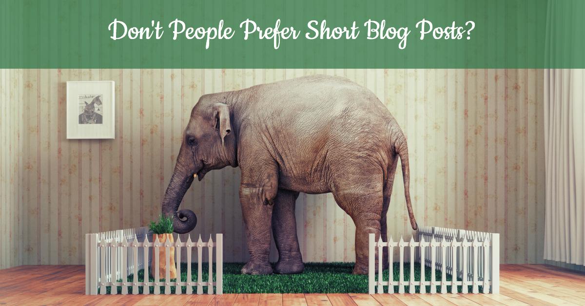 Don't people prefer short blog posts?